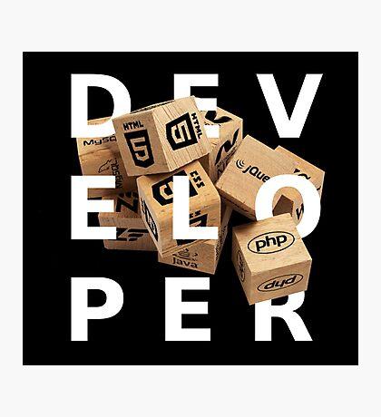 developer coder programming lenguage Photographic Print
