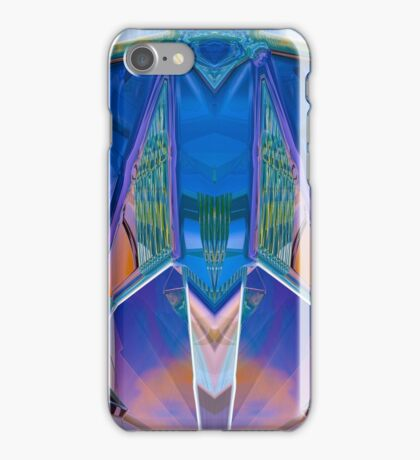 Reflected Blue Mirror Abstract I iPhone Case/Skin