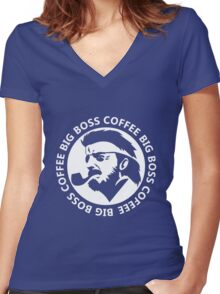 Big Boss Coffee Women's Fitted V-Neck T-Shirt