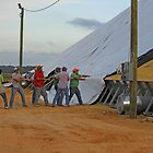 Tug Of War With 800,000 Bushels Of Rice by WildestArt