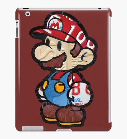 Mario from Mario Brothers Nintendo License Plate Art Portrait iPad Case/Skin