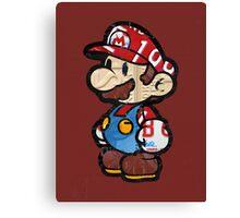 Mario from Mario Brothers Nintendo License Plate Art Portrait Canvas Print