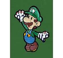 Luigi from Mario Brothers Nintendo License Plate Art Portrait Photographic Print