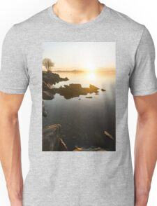 High Key Sunrise - Calm and Crystal Clear on the Shore of Lake Ontario in Toronto Unisex T-Shirt