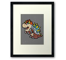 Bowser from Super Mario Brothers Nintendo Recycled License Plate Art Portrait Framed Print