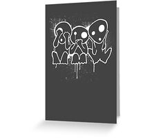 Kodama (White) Greeting Card