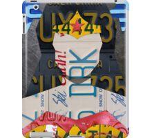 Wonder Woman Superhero Recycled License Plate Art iPad Case/Skin