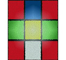 RUBIK'S CUBE WITH A DIFFERENCE Photographic Print