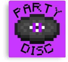 PARTY DISC (MINECRAFT) Canvas Print