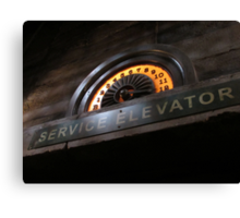 Hollywood Tower Hotel- Service Elevator Canvas Print