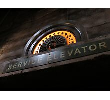Hollywood Tower Hotel- Service Elevator Photographic Print