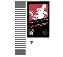 Nes Cartridge: Pokémon Omega Ruby Photographic Print