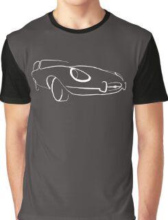 Jaguar E-Type graphic (White) Graphic T-Shirt