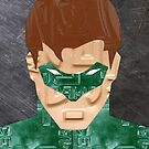 Green Lantern Superhero Recycled License Plate Art by designturnpike