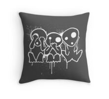 Kodama (White) Throw Pillow