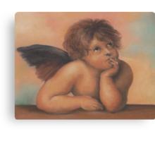 Cherub in pastels 2, after Raphael Canvas Print