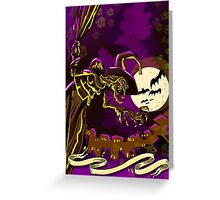Halloween with Witch Greeting Card