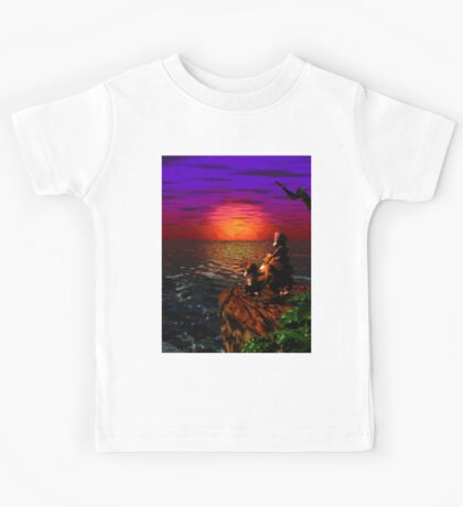 Donkey Kong Sunset Kids Tee