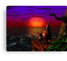 Donkey Kong Sunset Canvas Print
