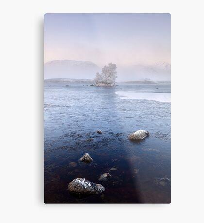 Glencoe Misty Winter Sunrise Metal Print