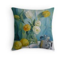 Happy morning Throw Pillow
