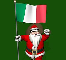 Santa Claus With Flag Of Italy by Mythos57
