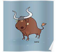 funny zodiac/taurus Poster