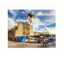 Going To Market In Oaxaca Mexico Art Print