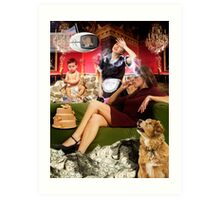 Chip Davis Elbridge III with his stay-at-home mother Art Print