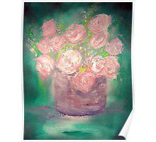 Emerald Bouquet Poster