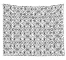 Steel construction seamless pattern. Wall Tapestry