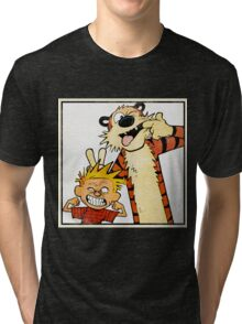 Calvin and Hobbes - Merry Christmas Tri-blend T-Shirt