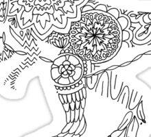 Patterned T-Rex Sticker