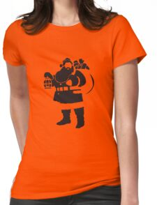 Santa Womens Fitted T-Shirt