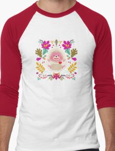 Hedgehog LOVE Men's Baseball ¾ T-Shirt