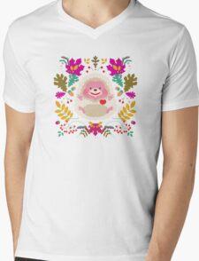 Hedgehog LOVE Mens V-Neck T-Shirt