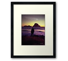 Sunset Sentinel Framed Print