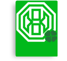 Octagon St. Patrick's Day Logo Canvas Print