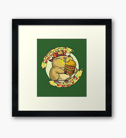 Hamster party Framed Print