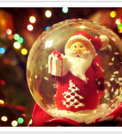 Snow Globe Santa Sticker