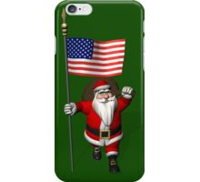 Santa Claus With Flag Of The USA iPhone Case/Skin