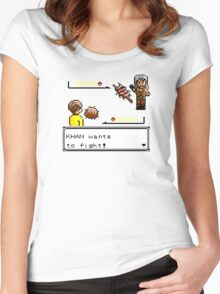 Khan Wants to Fight! Women's Fitted Scoop T-Shirt