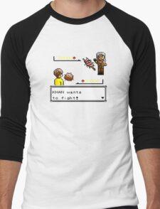 Khan Wants to Fight! Men's Baseball ¾ T-Shirt
