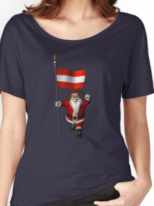 Santa Claus Visiting Of Austria Women's Relaxed Fit T-Shirt