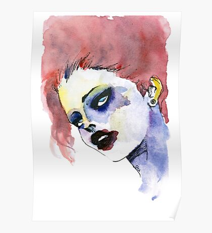 Woman in stains Poster