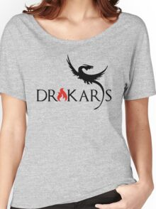 Drakars Mother of Dragons Black Women's Relaxed Fit T-Shirt