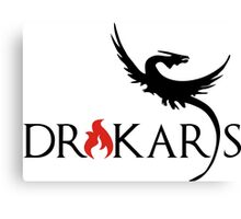 Drakars Mother of Dragons Black Canvas Print