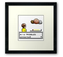 Wild Tribbles Appeared! Framed Print