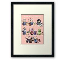 Choose your Adventurer! Framed Print