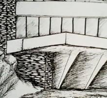Frank Lloyd Wright: Falling Waters Sticker
